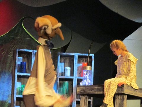 Photo of BFG performance during a drama class